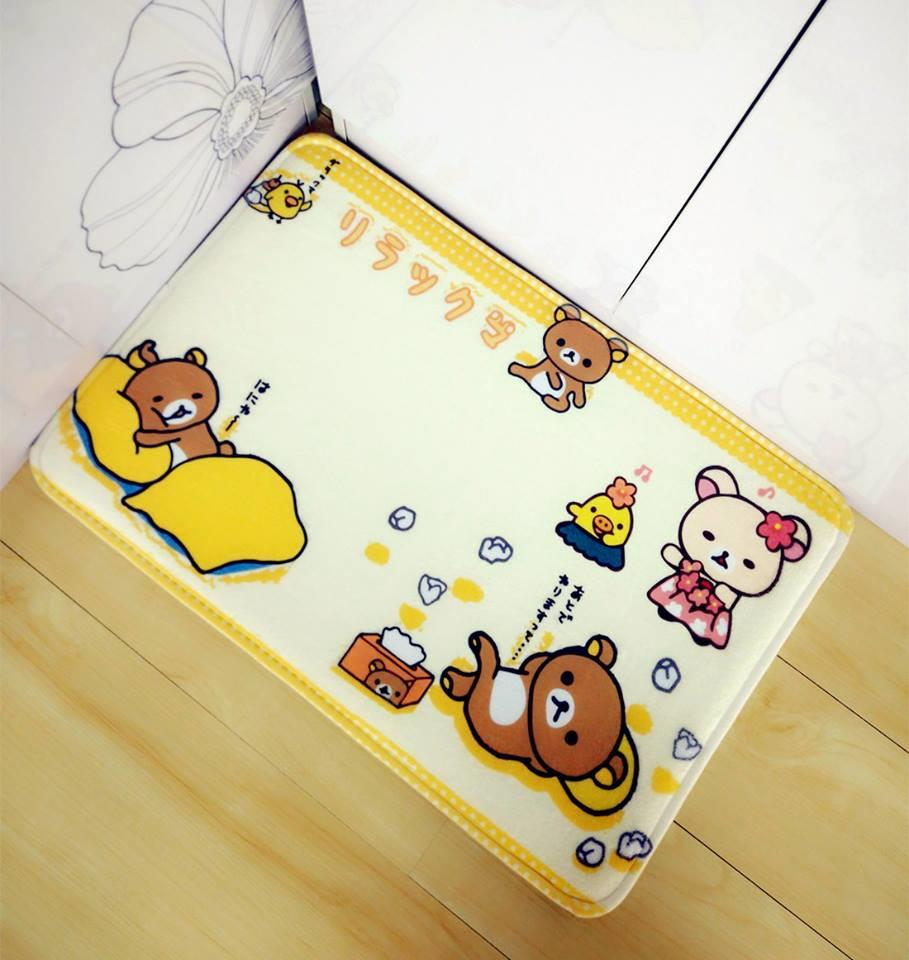 FM0005 YELLOW RILAKKUMA FLOOR MAT