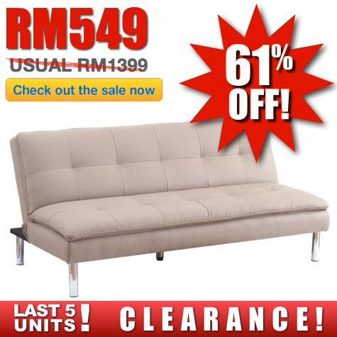 Foam Novelty SofaBed (Stone) RM549 Regular RM1399