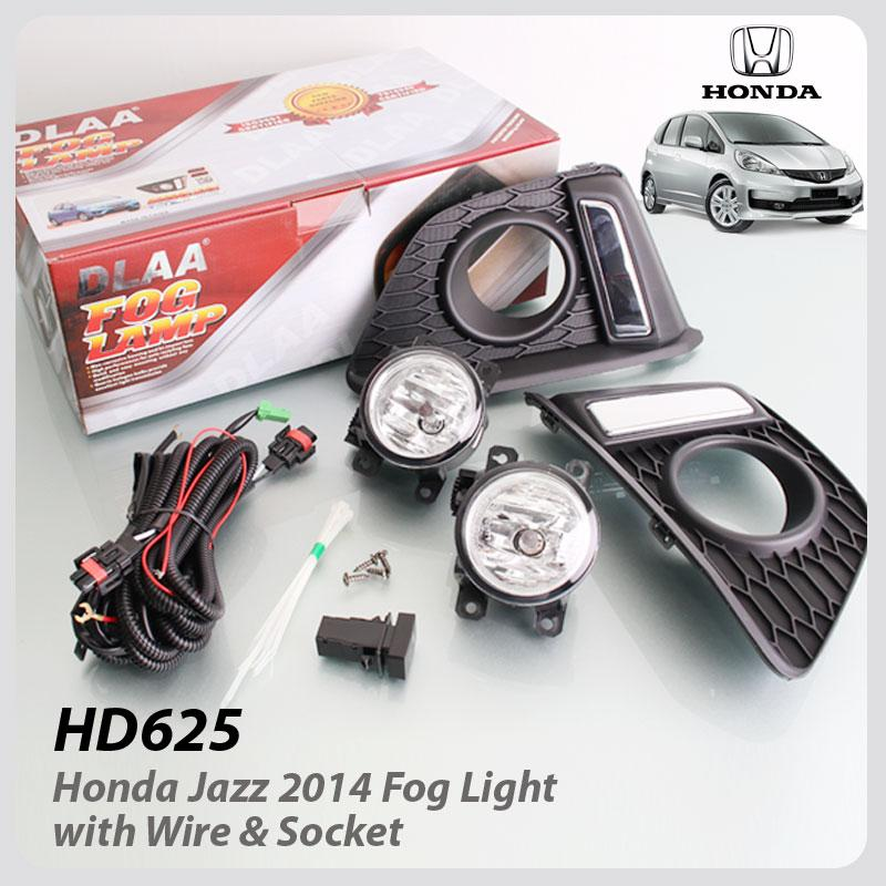 Fog Lamp With Wire & Socket ( Chrome DLAA ) For Honda Jazz 2014
