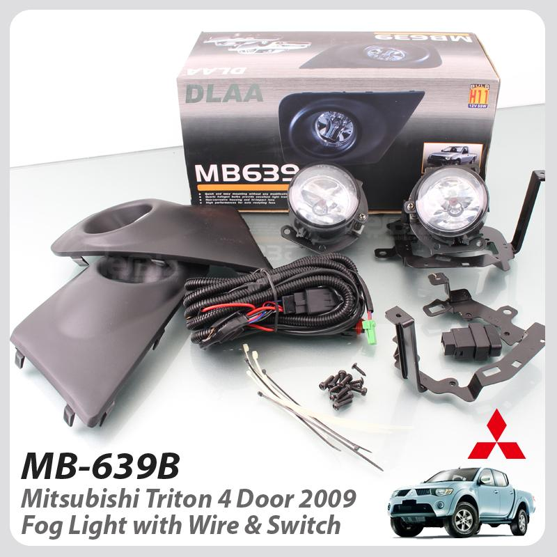 Fog Light With Wire & Socket For Mitsubishi Triton 4 Door 2009