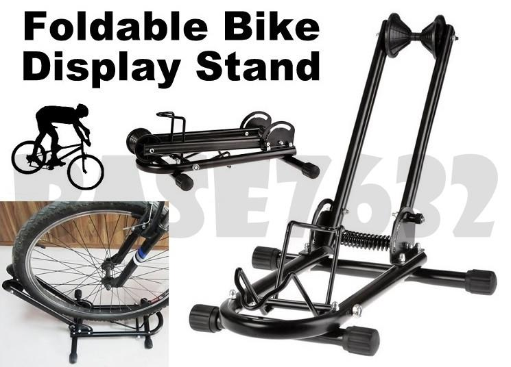 Foldable Folding Bicycle Bike L Display Parking Hanger Stand Rack