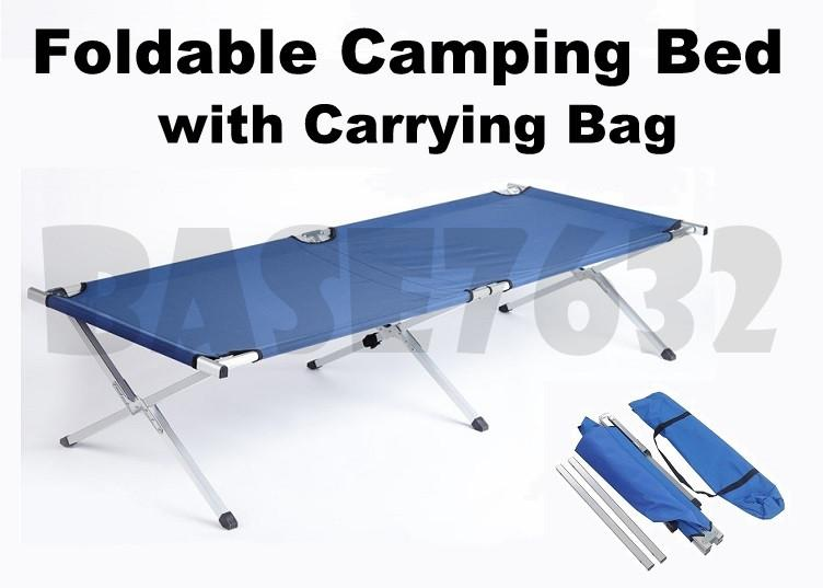 Foldable  Folding Oxford Military Camping Camp Cot Single Bed Outdoor