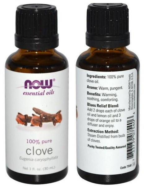 Now Foods, 100% Pure Clove Essential Oil (30 ml)