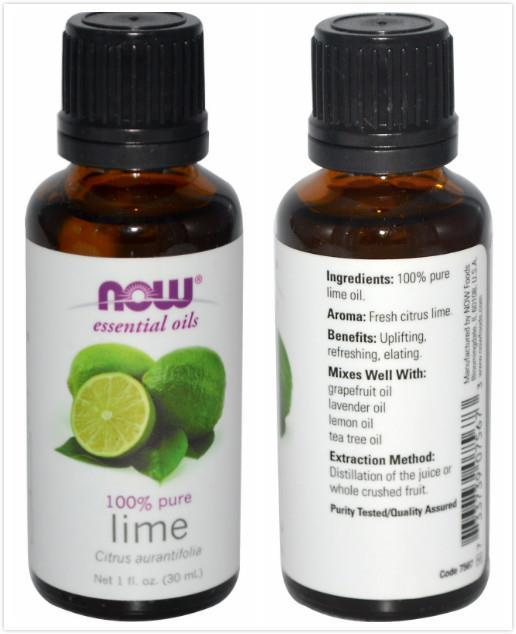 Now Foods, 100% Pure Lime Essential Oil (30 ml)