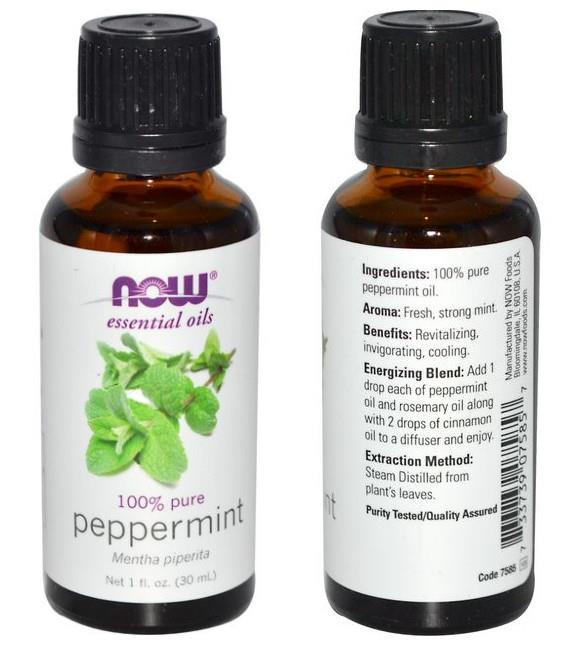 Now Foods, 100% Pure Peppermint Essential Oil (30 ml)