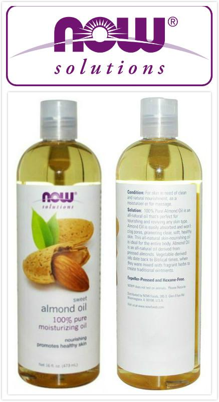 Now Foods, 100% Pure Sweet Almond Oil (473ml)