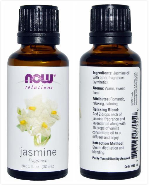 Now Foods, Jasmine Fragrance Oil, Sweet Floral Smell (30 ml)