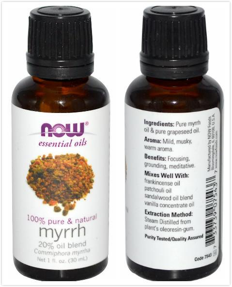 Now Foods, Myrrh Essential Oil, 20% Blend (30 ml)