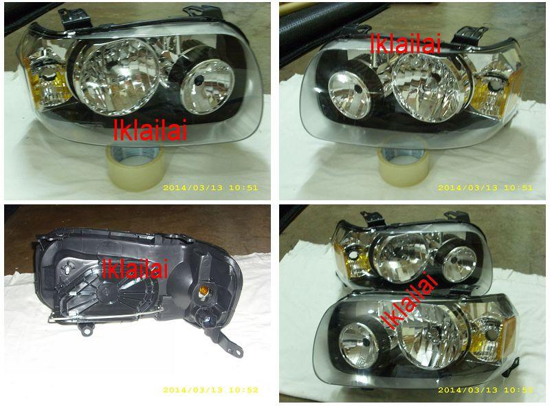 Ford ESCAPE '01-04 Crystal Head Lamp Black Housing