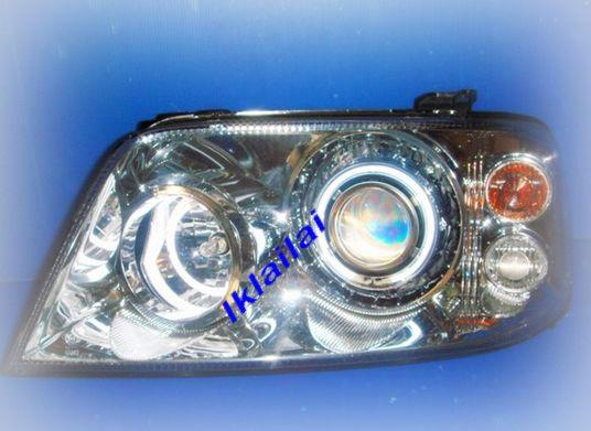 Ford ESCAPE '04 Double CCFL Projector Head Lamp Black/Chrome Housing