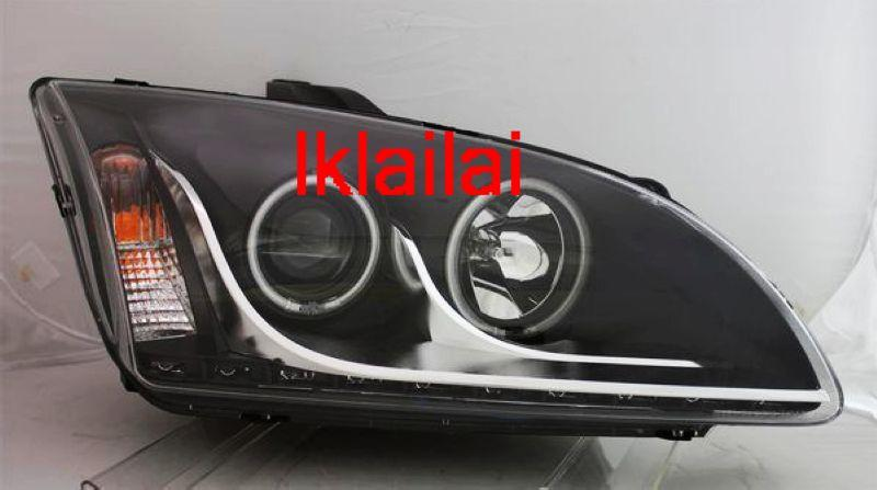 FORD FOCUS '05-'08 CCFL Projector Head Lamp Black [R8 DRL Look]