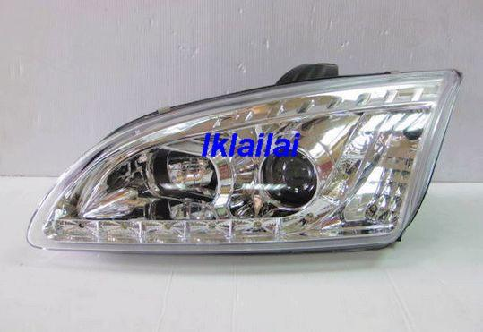 FORD FOCUS '05-'08 Projector Head Lamp Chrome/Black [R8 LED Look]