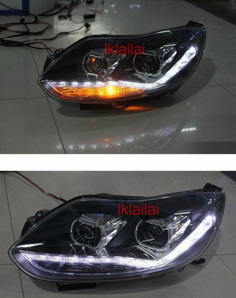 FORD FOCUS MK3 '13 LED R8 Dual Projector Head Lamp