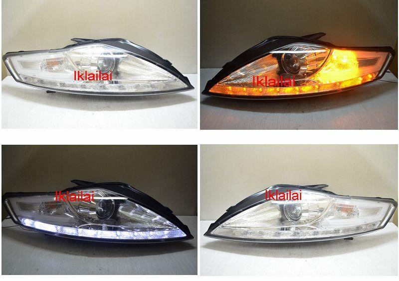 FORD MONDEO '08-12 Projector Head Lamp LED RL R8 Chrome Housing