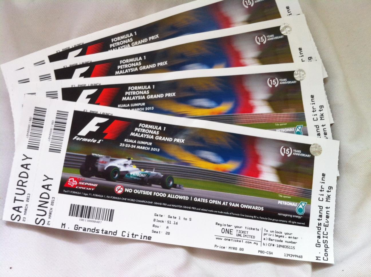 Tickets Spa Formel 1