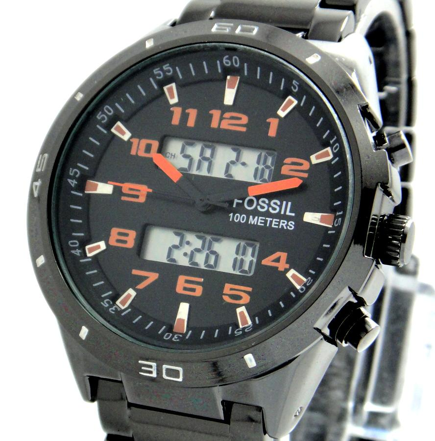 fossil 100 meter dual time blac end 2 5 2014 10 07 pm
