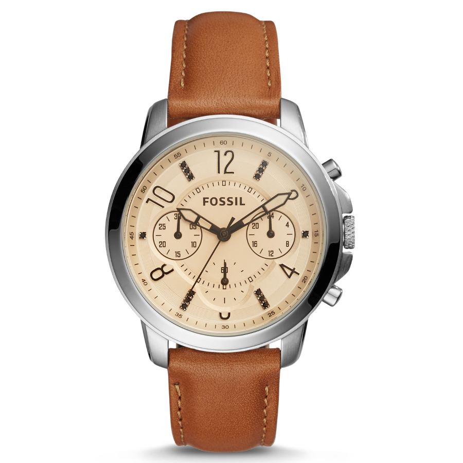 Fossil ES4039 Women's Gwynn Chronograph Leather Watch