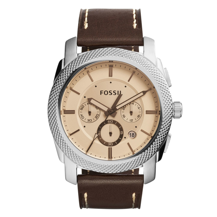 Fossil FS5170 Men's Machine Chronograph Brown Leather Watch