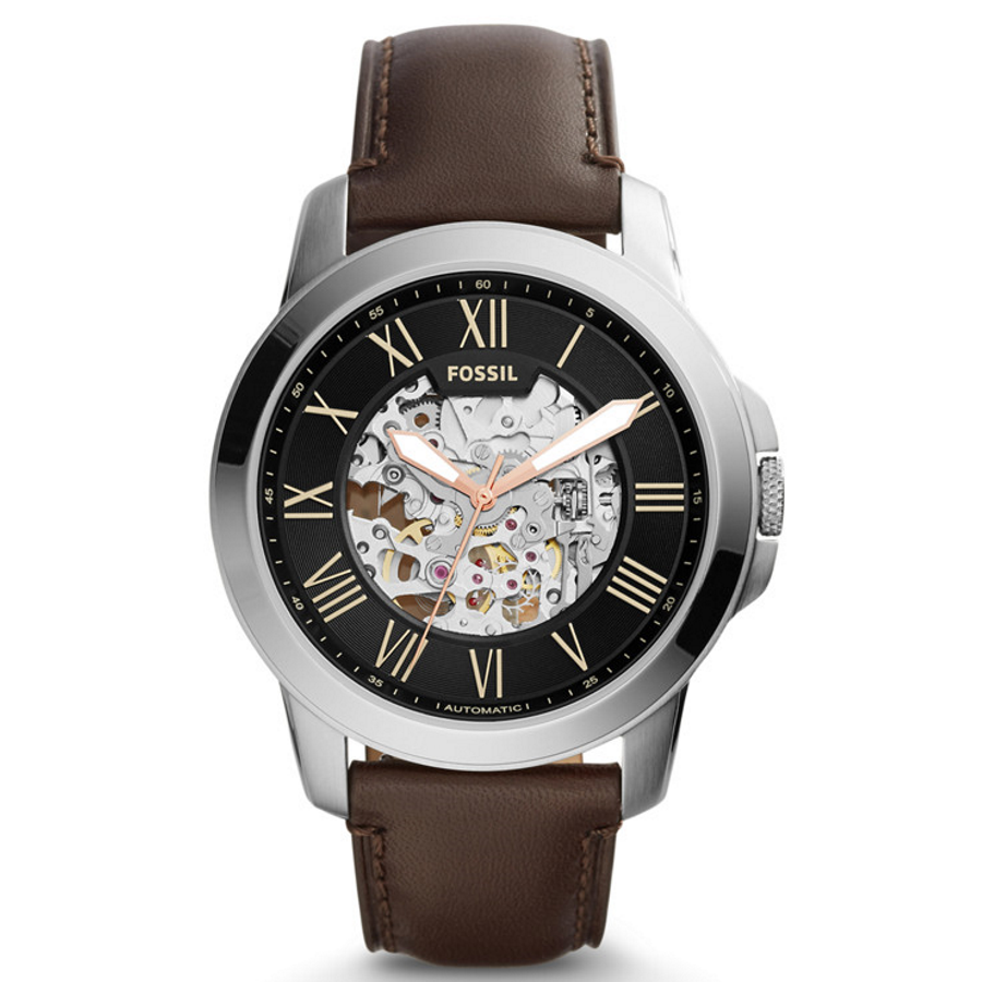 Fossil ME3100 Men's Grant Automatic Brown Leather Watch