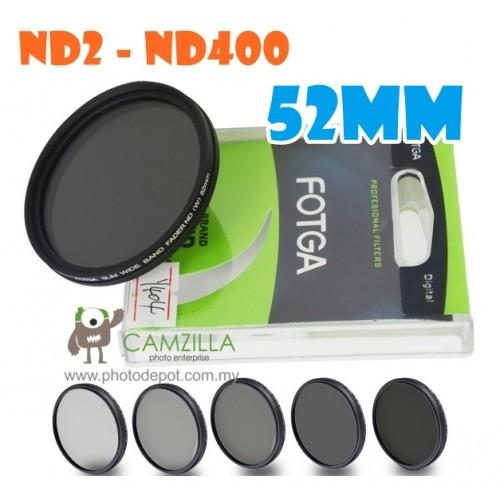 Fotga 52mm ND2 to ND400 slim fader ND filter adjustable variable