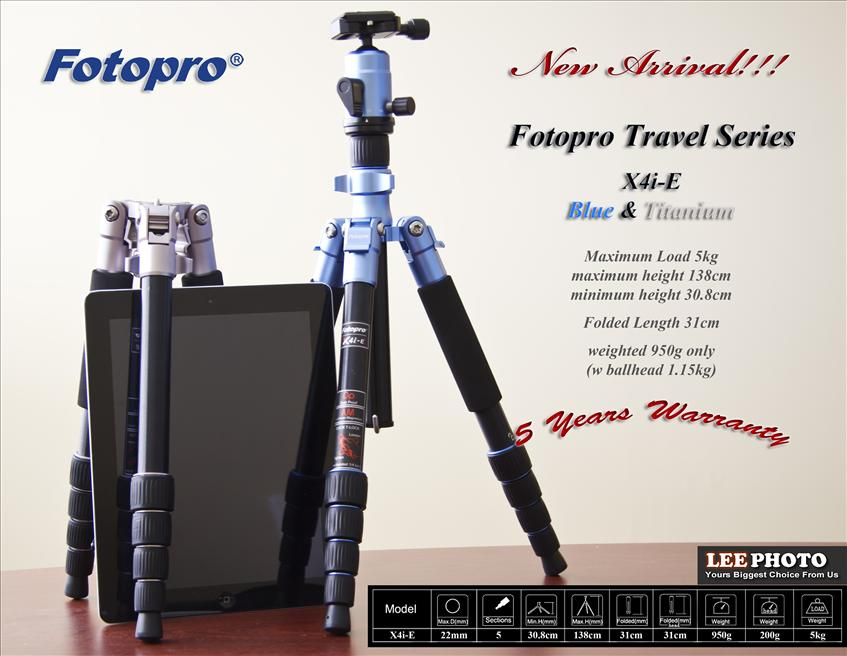 Fotopro X4i-E Travel Tripod + FPH42Q Ball Head FREE SHIPPING!!!