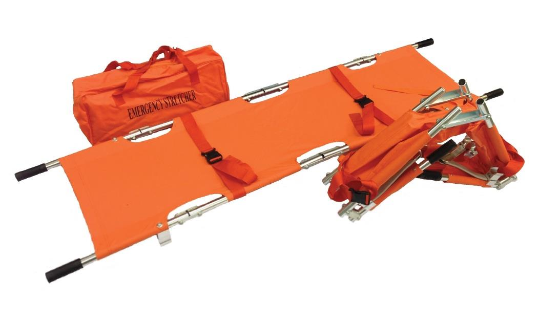 Four Fold Stretcher w/sewn 2 strap in Carrying Bag