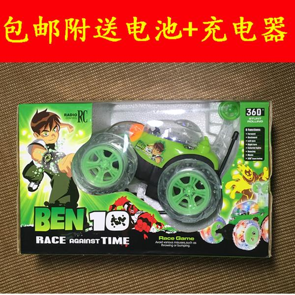 [FREE GIFT]BEN10 RC 360'STUNT ROLLING CAR WITH SOUND & LIGHT