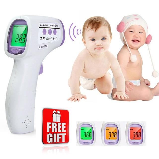Free Gift + Non Contact Infrared Body Forehead Baby Adult Thermometer
