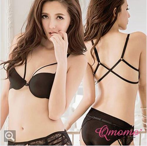 Free Shipping 02736  Korean Style Push Up Front Buckle Bra Set