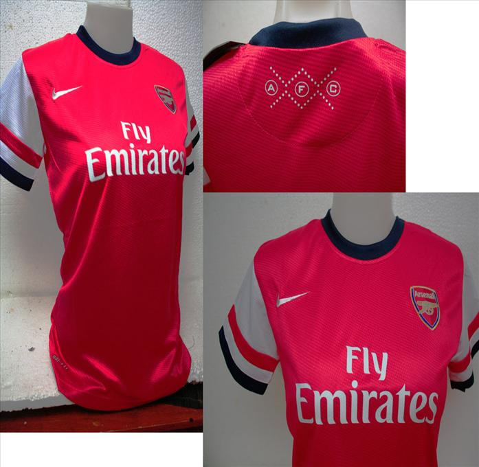 FREE SHIPPING-ARSENAL HOME LADIES JERSEY