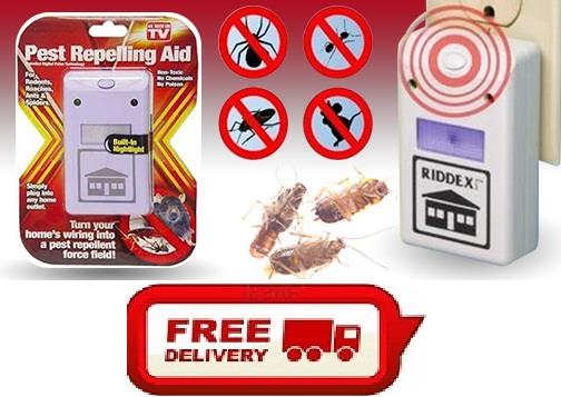 Free Shipping- Genuine Riddex Plus Digital Pest Repelling Aid