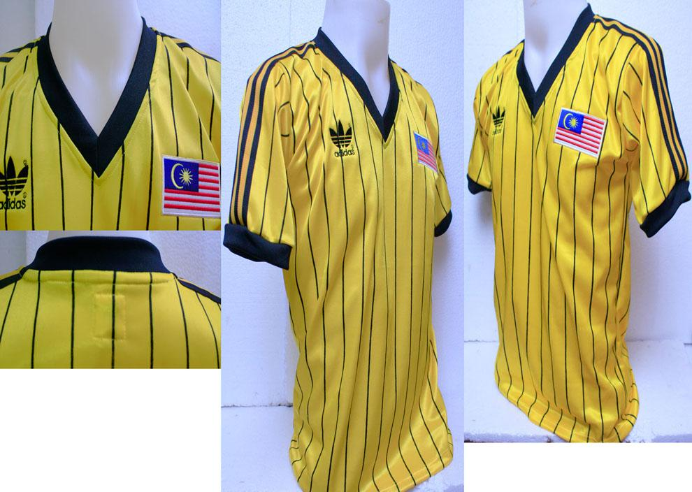 FREE SHIPPING-MALAYSIA NATIONAL TEAM 1983 RETRO JERSEY