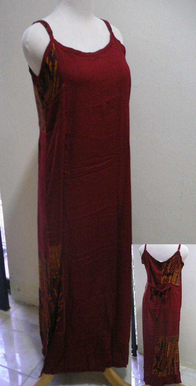 Free Shipping-'SEASON' Kringle Batik Lady Long Strap Dress #1-Red