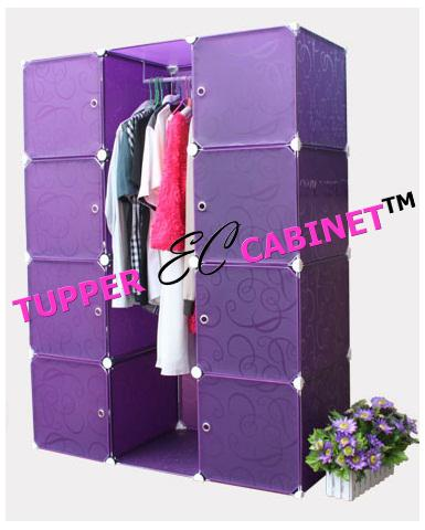 FREE SHIPPING Tupper Cabinet 12 Cubes 8 Doors Purple