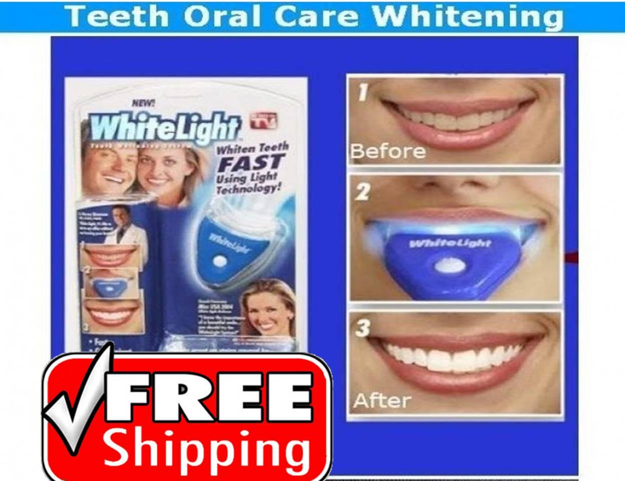 free shipping white light teeth whitening system oral care selangor. Black Bedroom Furniture Sets. Home Design Ideas