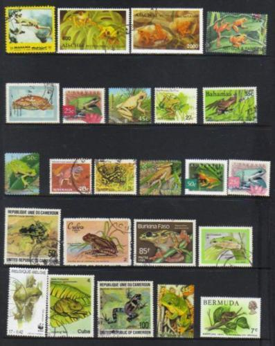 FROGS & TOADS THEMATIC SELECTION stamps BJ70