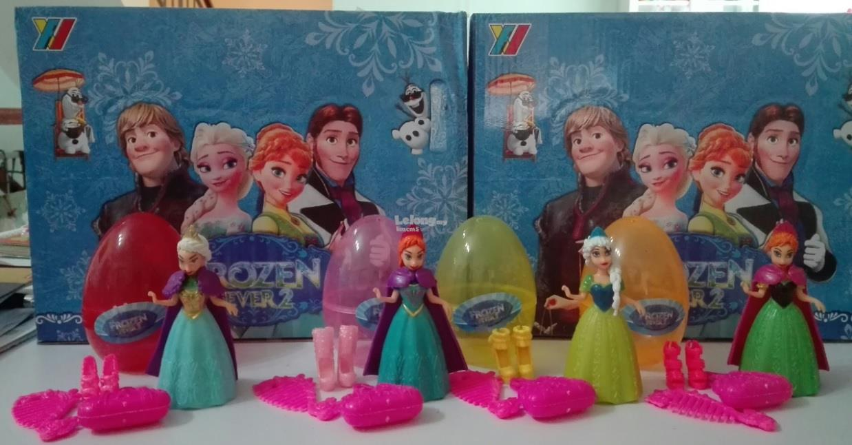 FROZEN Anna Elsa Giant Surprise Eggs Set (4 In 1)