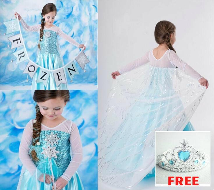 New Frozen Dress with Free Crown!!