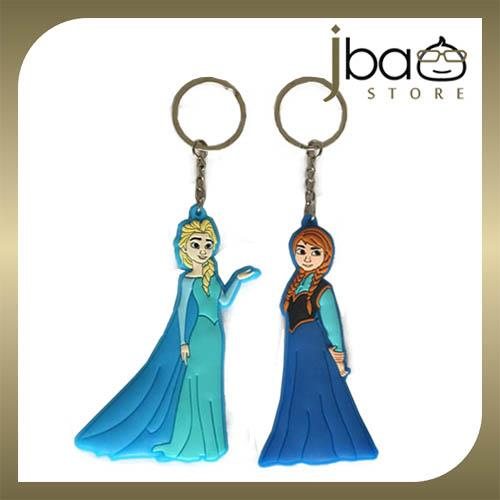 Frozen Elsa Anna Silicone Key Chain Birthday Christmas Gift