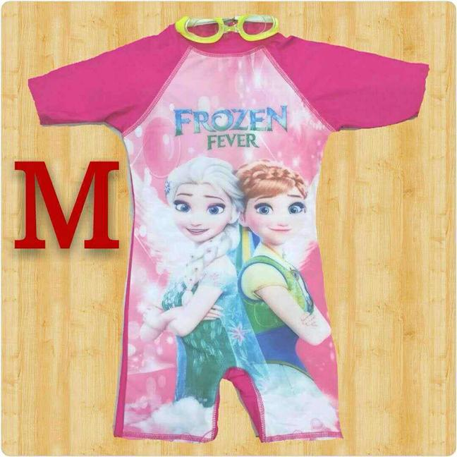 FROZEN FEVER (PINK) SWIMMING SUIT WITH FREE SWIMMING GLASSES