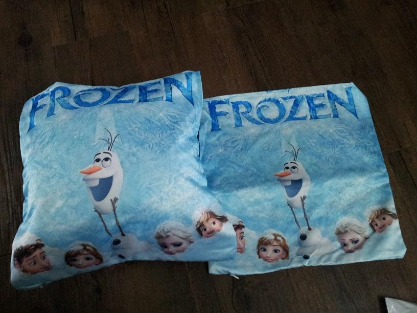 Frozen Square Fabric Waterproof 2 sides printing Pillow+cover