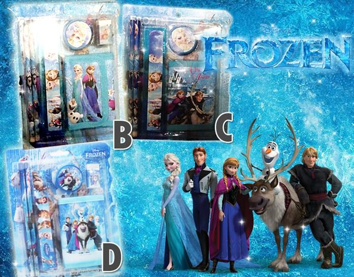 FROZEN STATIONERY AND PURSE