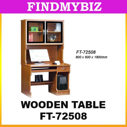 FT-72508 WOODEN OFFICE STUDY LAPTOP RACK TABLE DRAWER CHAIR CLASSIC