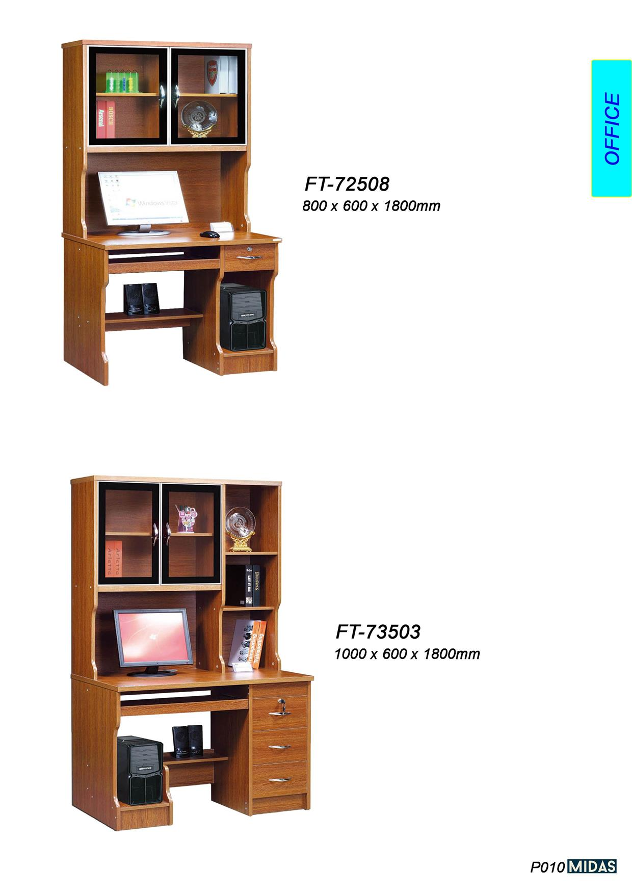FT-73503 WOODEN OFFICE STUDY LAPTOP RACK TABLE DRAWER CHAIR CLASSIC