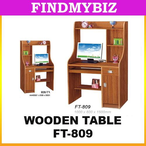 FT-809 WOODEN OFFICE STUDY LAPTOP RACK TABLE DRAWER CHAIR CLASSIC ROOM