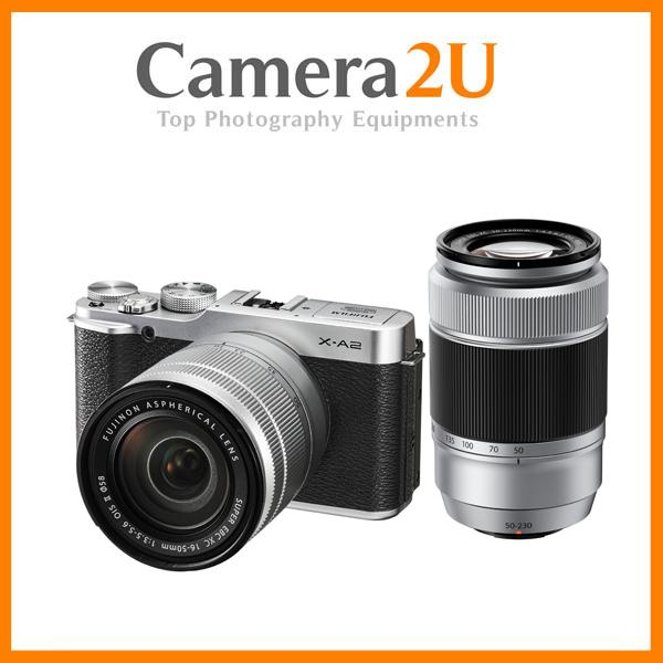 New Fujifilm X-A2 (Silver) With 16-50mm + 50-230mm Lens + 8GB + Case