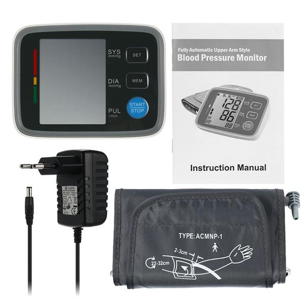 Full Automatic Digital Blood Pressure Monitor Pro Upper Arm Tonometer