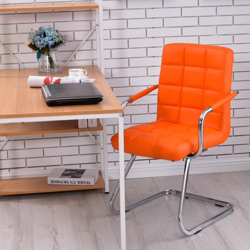 Full Leather Z leg Design Stylish Office Chair / Study Chair