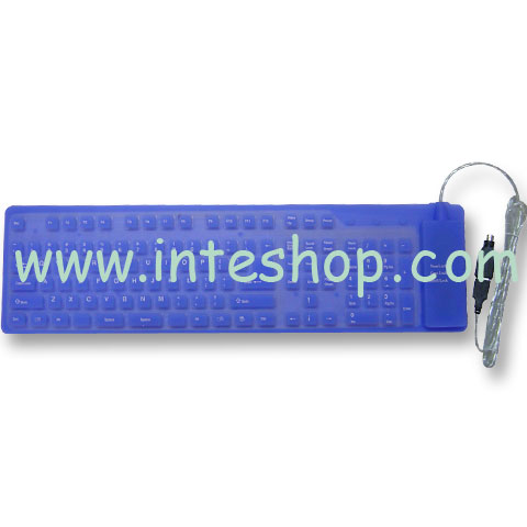 Full Size Keyboard Silicone Flexible Washable USB PS2