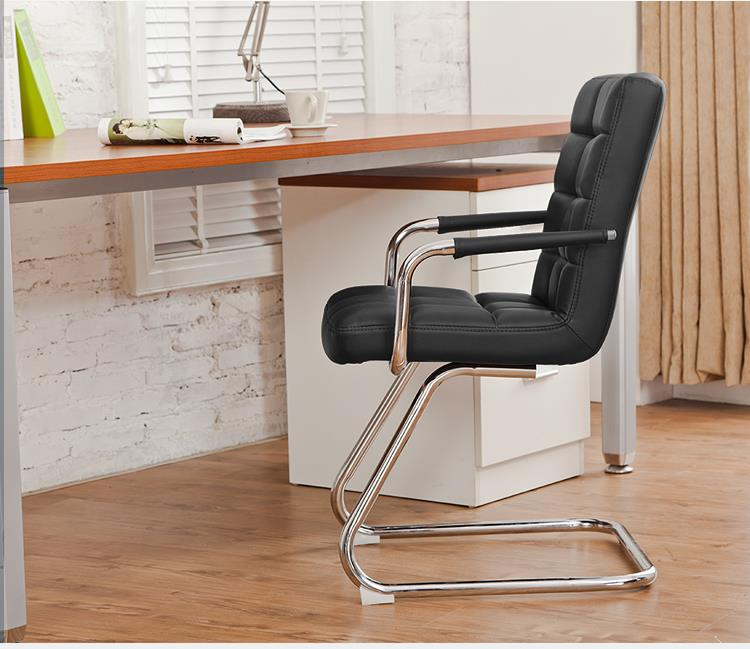 Fully Assembly Full Leather Z leg Design Stylish Chair
